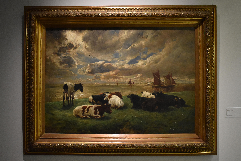 Обои картина, Ян Брейгель младший, Пейзаж, Вид на Шельду близ Антверпена, лодка. Разное foto 6